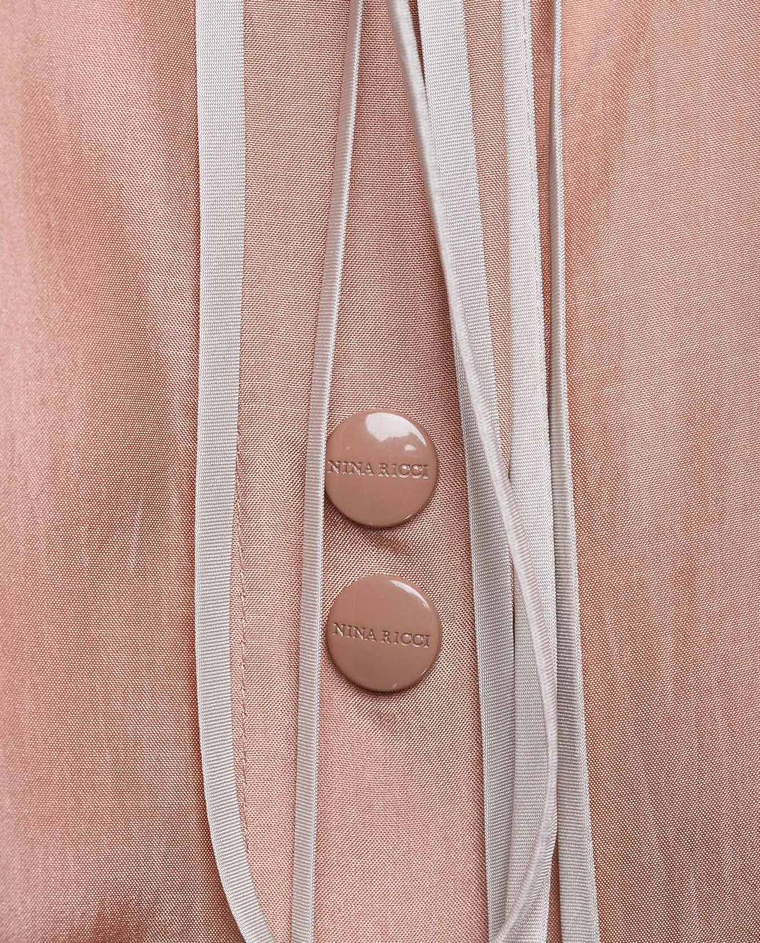 Пудровая блуза из шелка NINA RICCI 17HCTO049DB0085 — Symbol