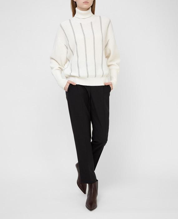 Светло-бежевый свитер из кашемира hover