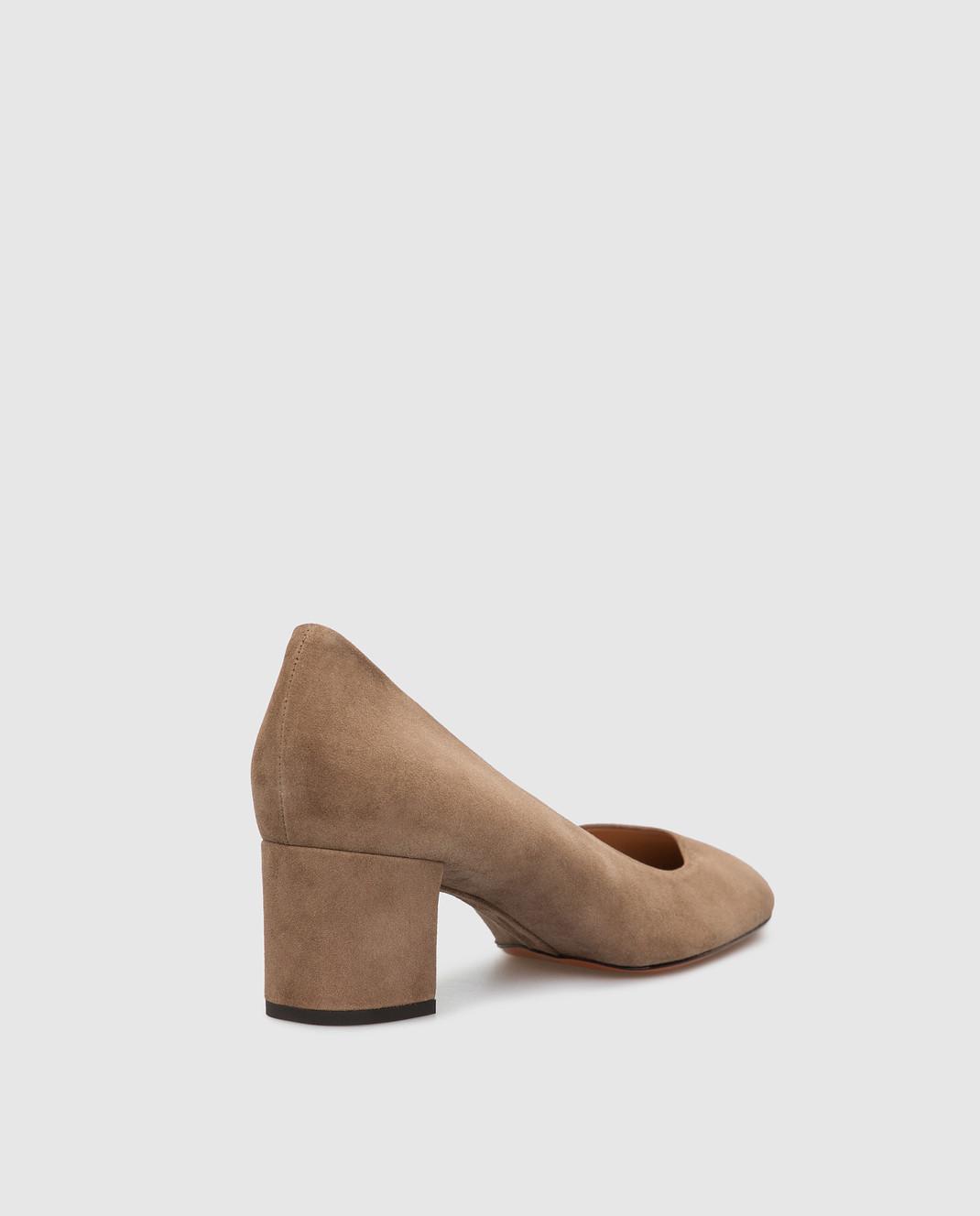 Santoni Бежевые замшевые туфли изображение 4
