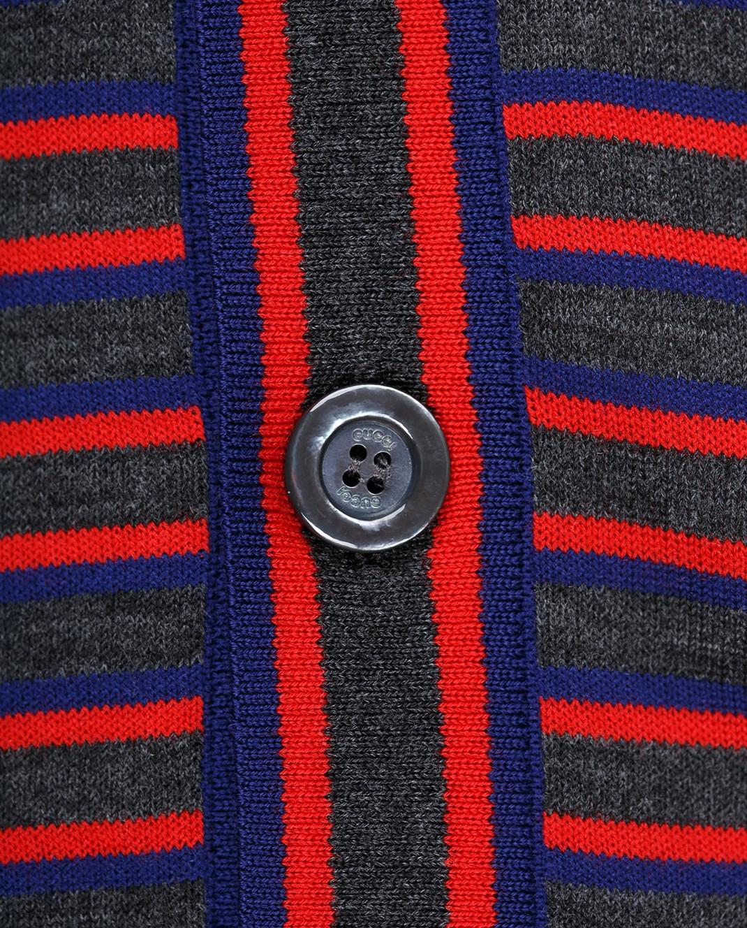 Gucci Темно-серый кардиган изображение 5
