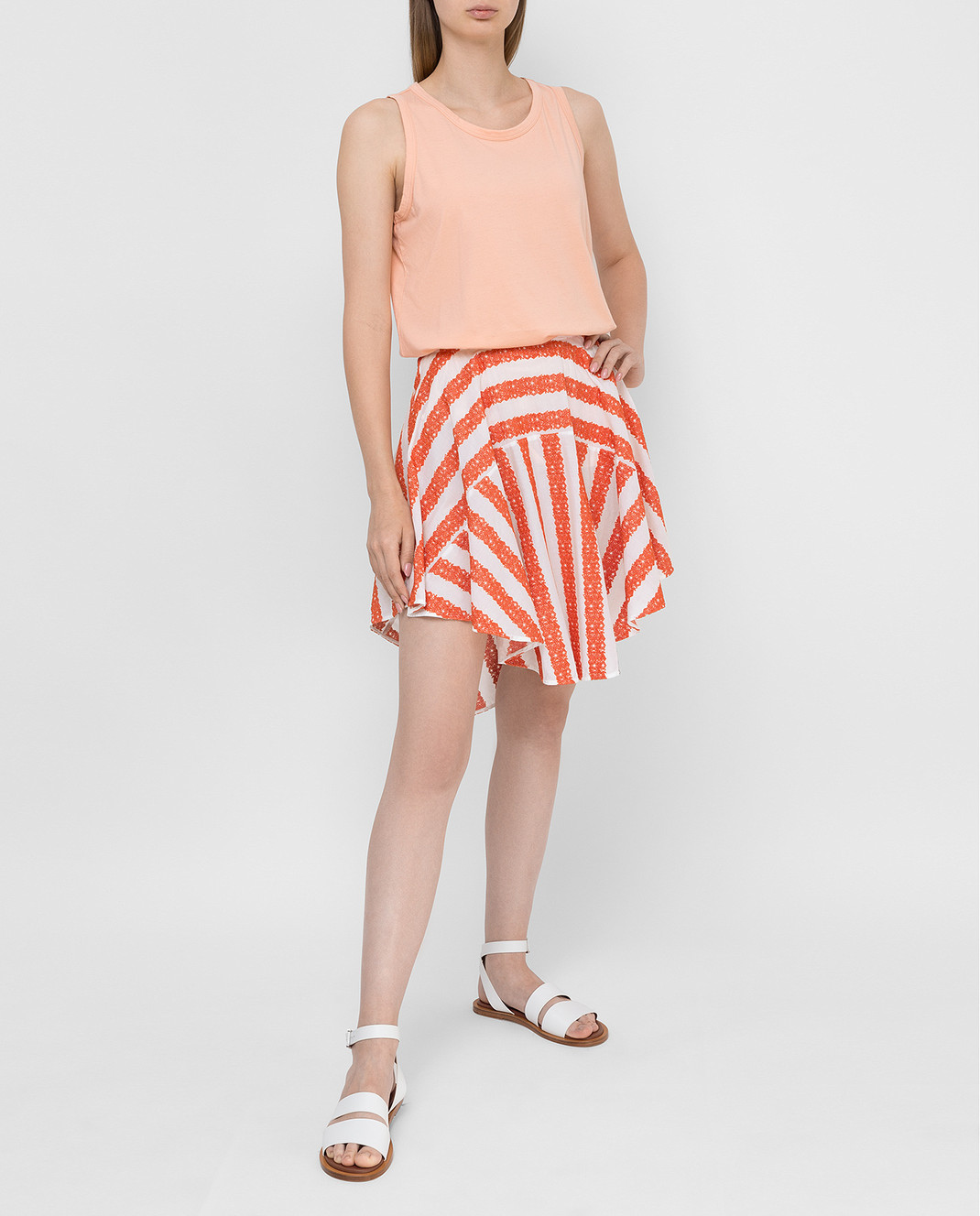 Azzedine Alaia Белая юбка изображение 2