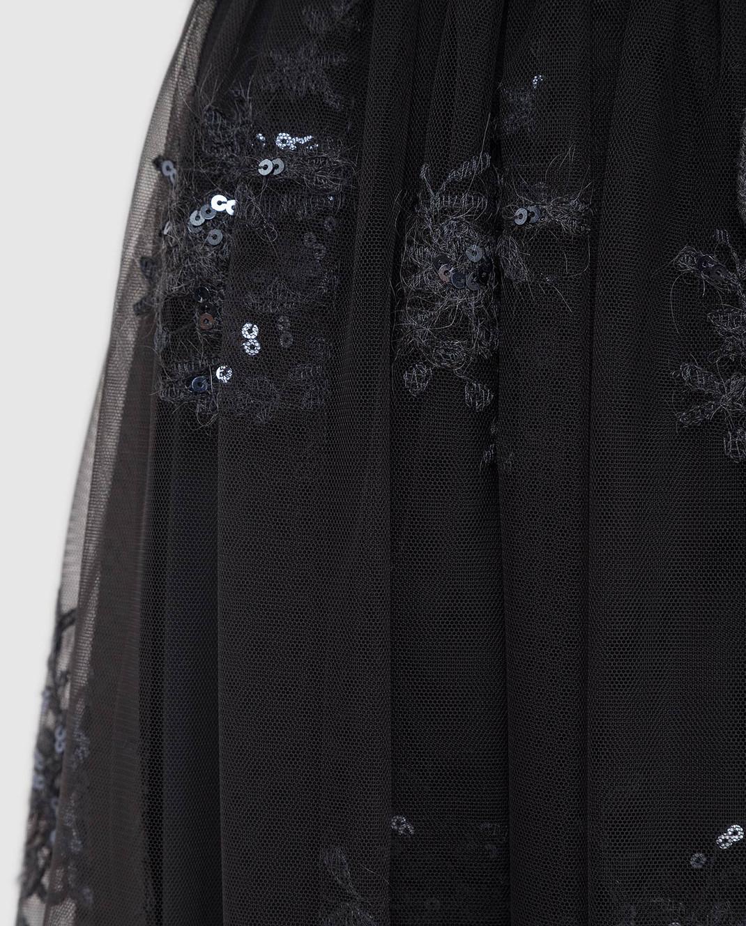 Brunello Cucinelli Темно-серая юбка MA960G2739 изображение 5