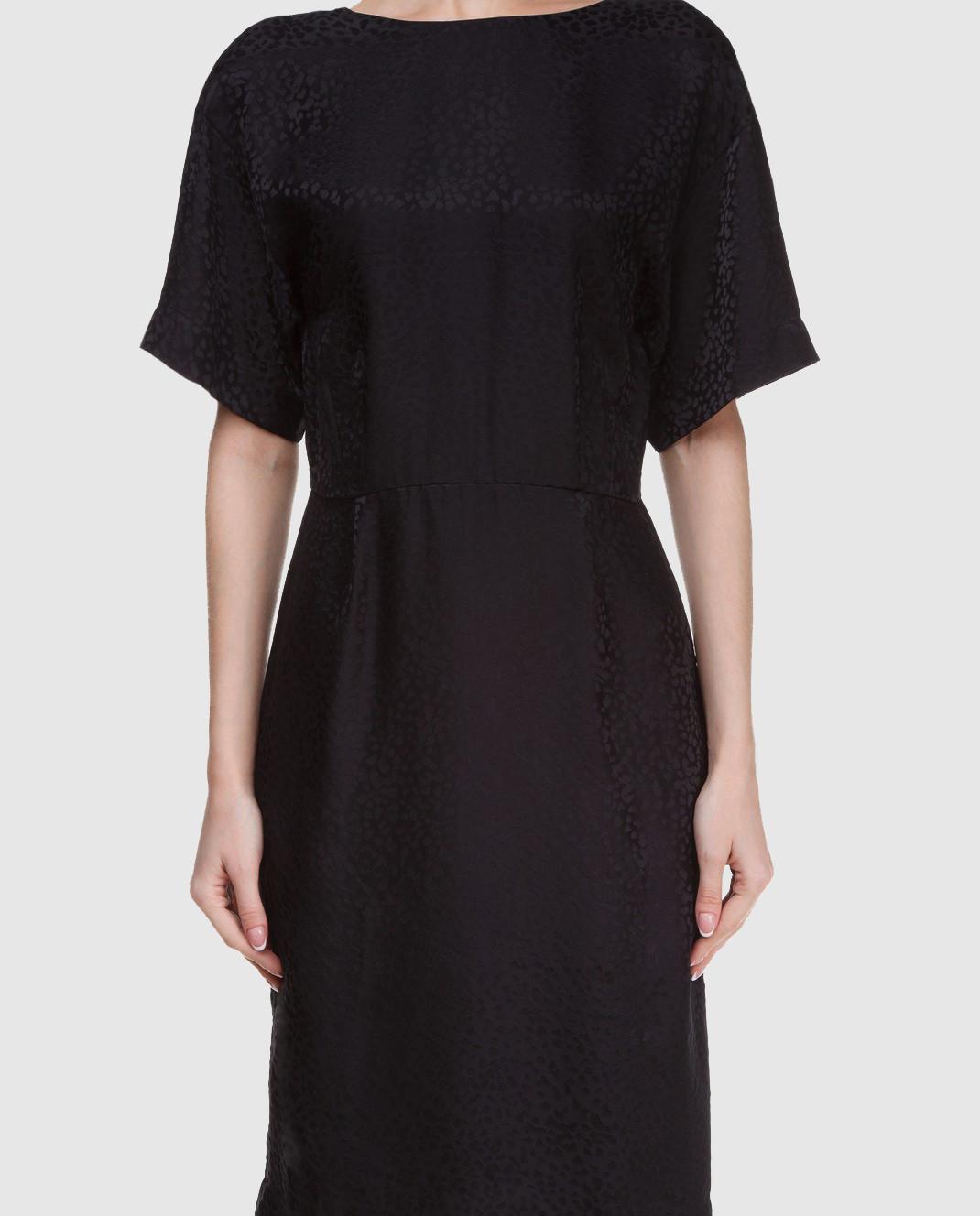 Alexander Terekhov Черное платье из шелка изображение 3