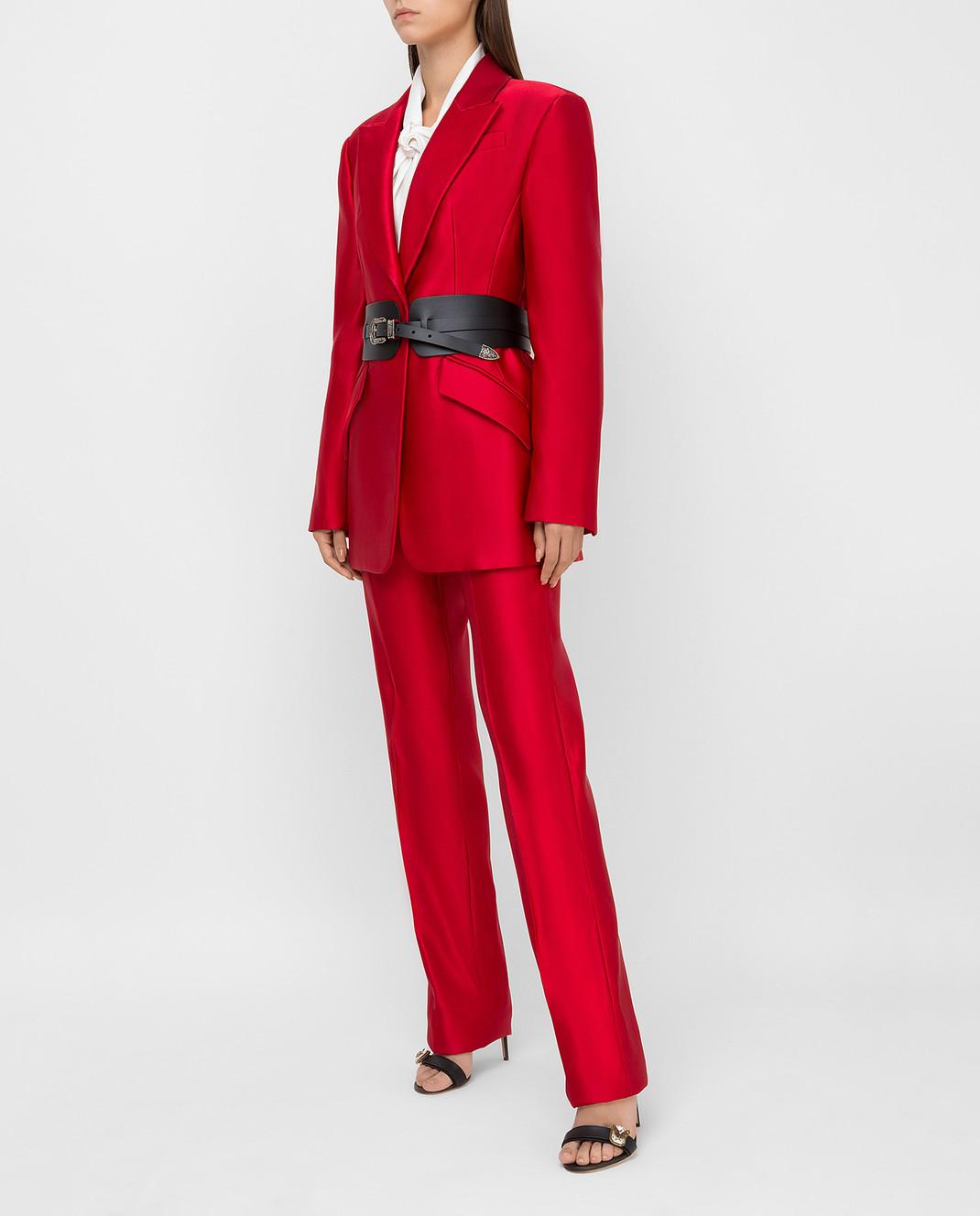 Alexander McQueen Красный жакет из шелка изображение 2