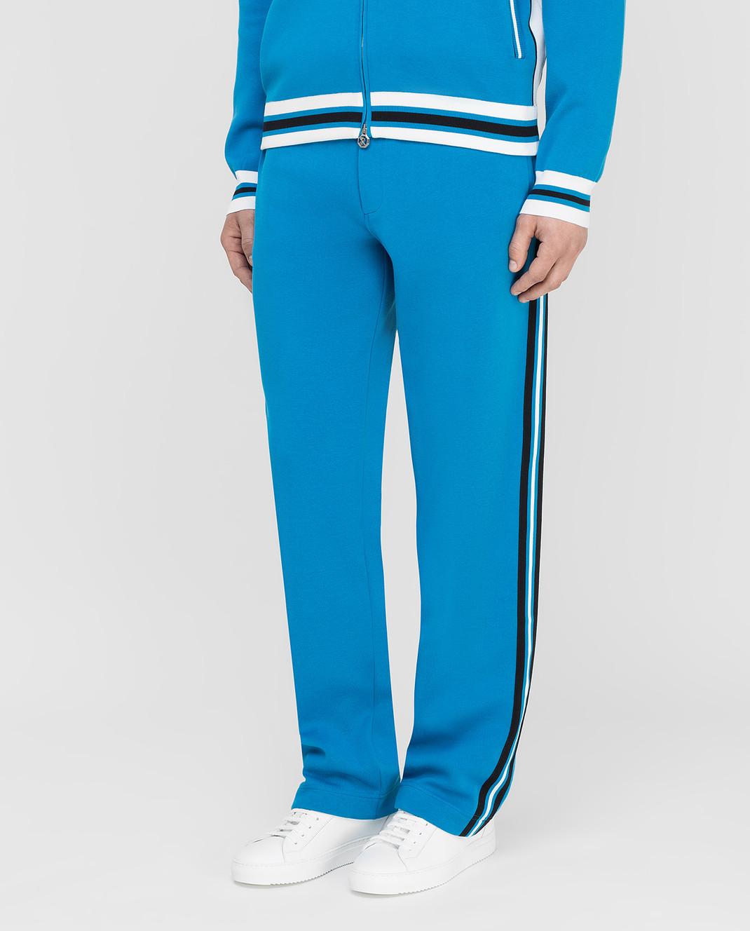 Stefano Ricci Синие спортивные брюки изображение 3