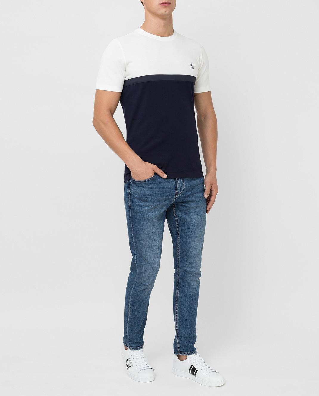 Brunello Cucinelli Темно-синяя футболка изображение 2