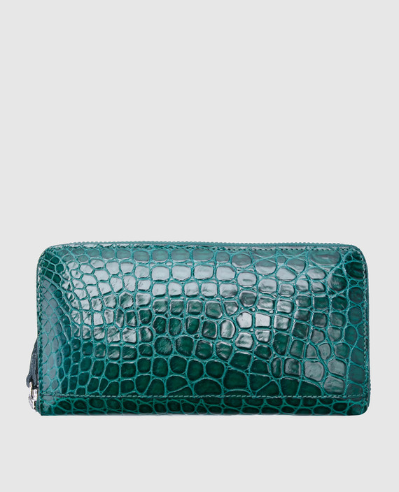 Зеленый кожаный кошелек