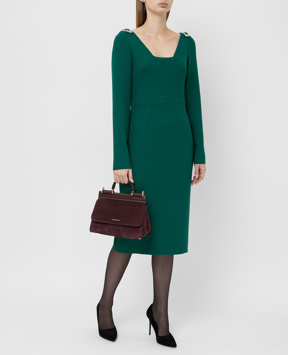Зеленое платье из шерсти hover