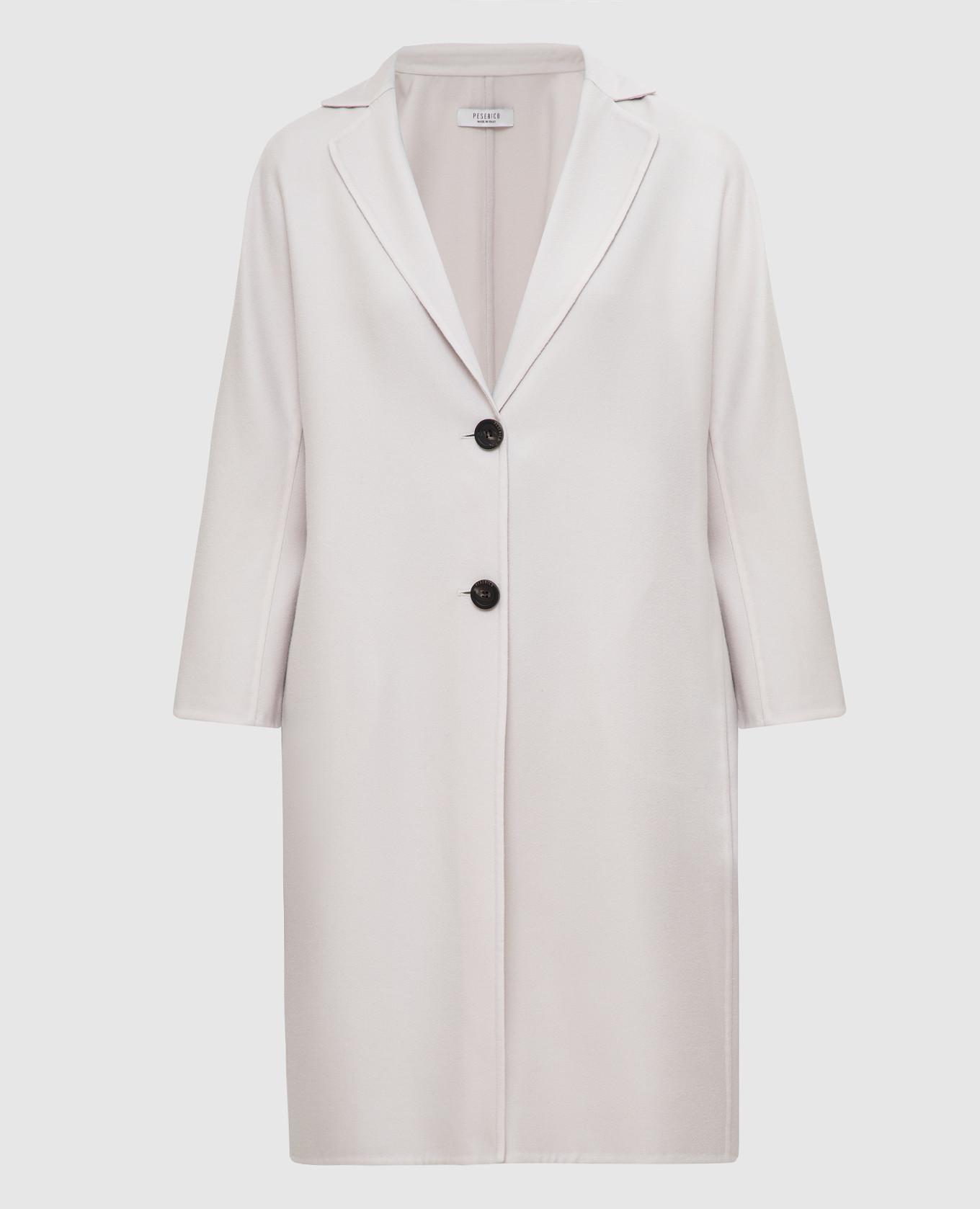 Светло-бежевое пальто из кашемира и шерсти