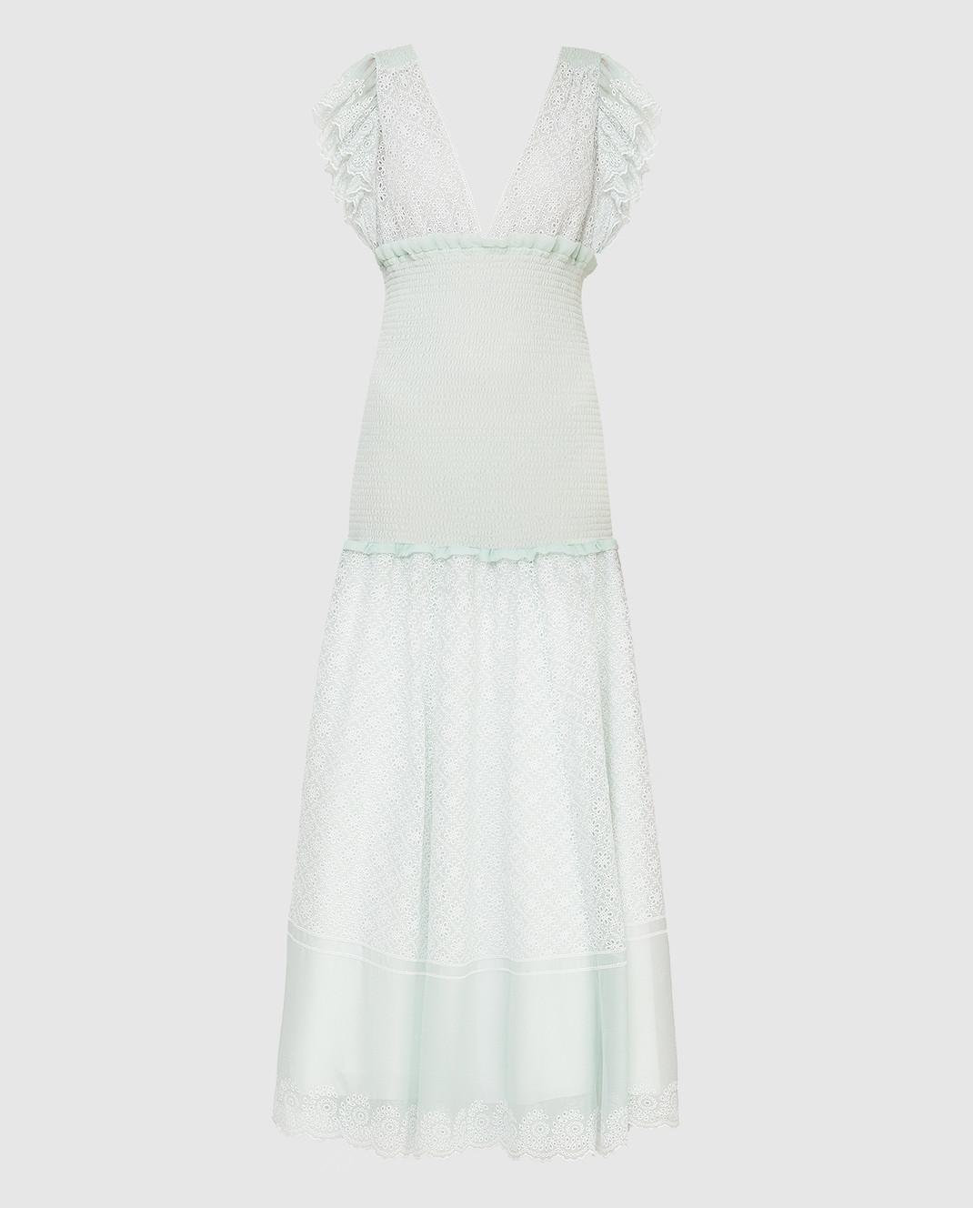 Philosophy di Lorenzo Serafini Светло-зеленое платье A0418