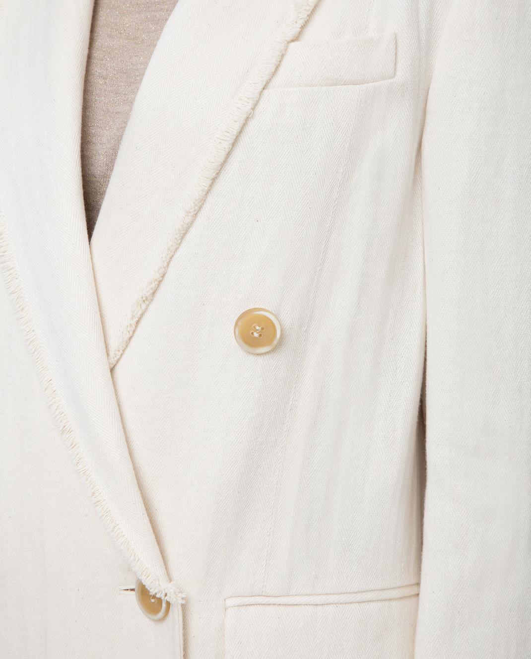 Brunello Cucinelli Белое пальто MF5779291 изображение 5