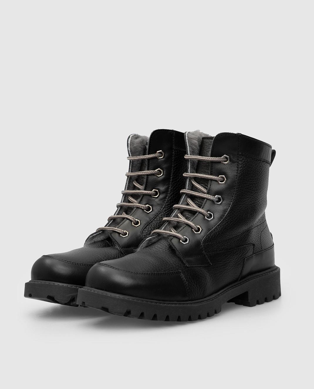 Zecchino D'oro Детские черные ботинки на меху A044123640 изображение 2
