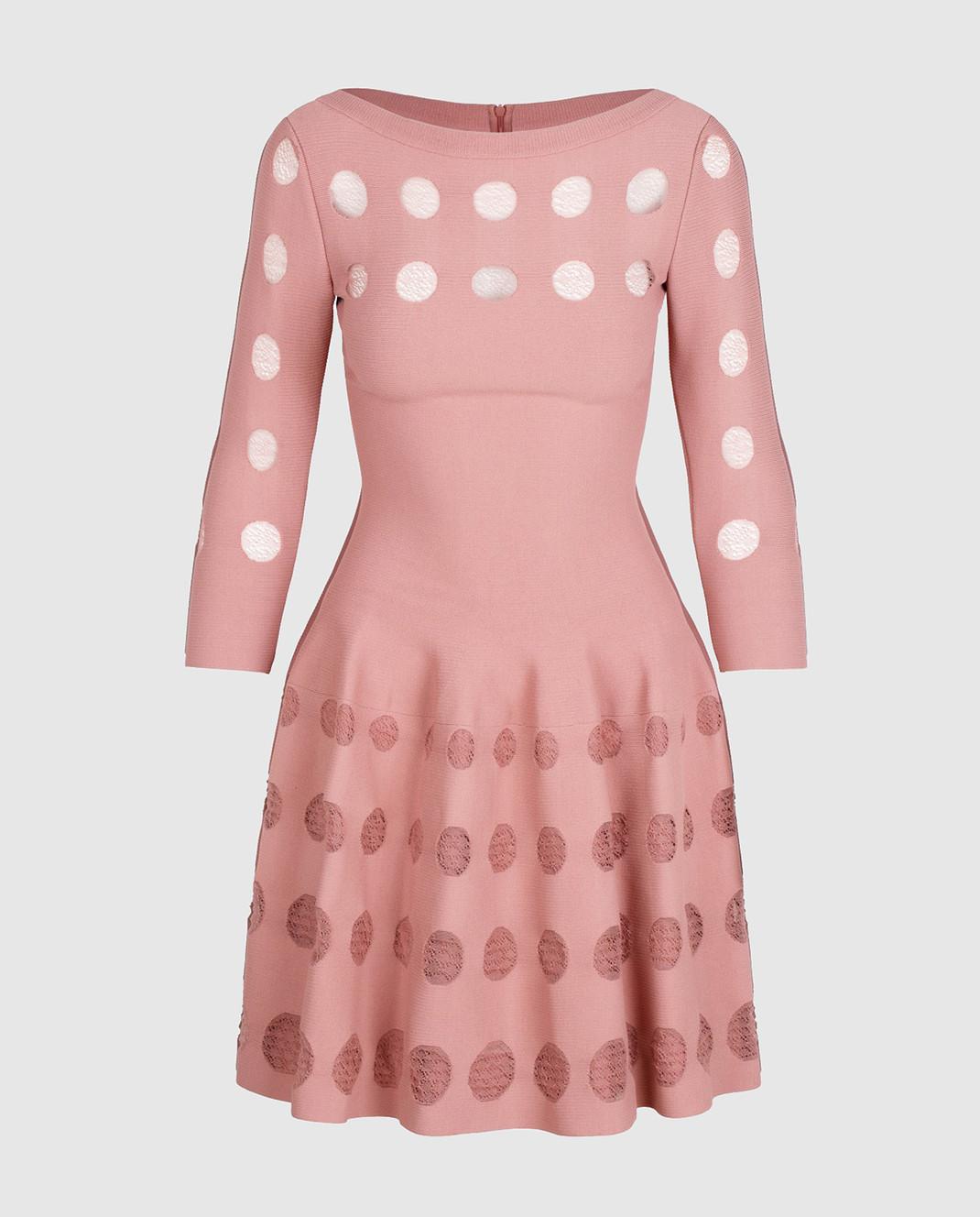 Azzedine Alaia Розовое платье с перфорацией изображение 1