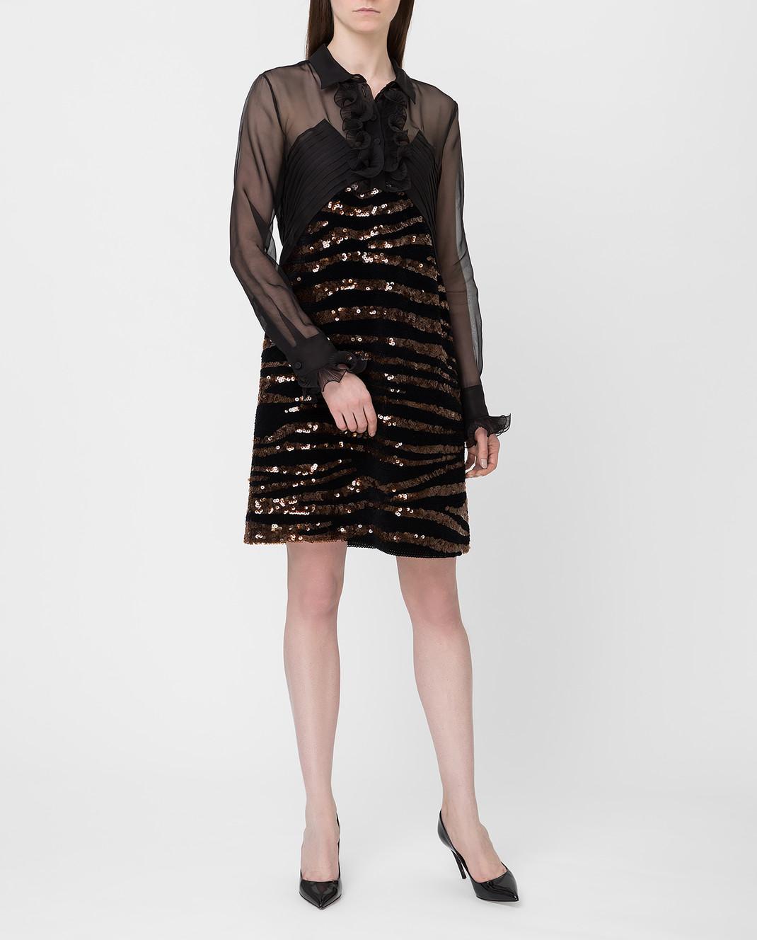 Bottega Veneta Черное платье из шелка изображение 2