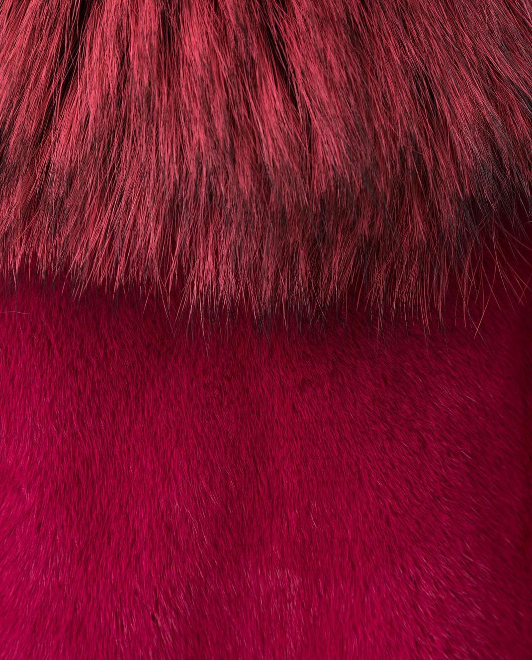 Fabio Gavazzi Малиновый жилет из меха норки и лисы 9VI000F18FG77PIVR изображение 5