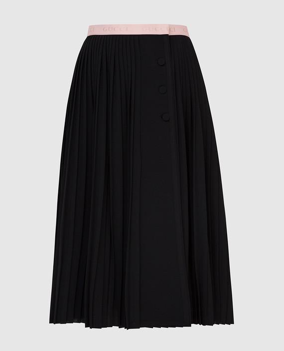 Черная юбка из шерсти