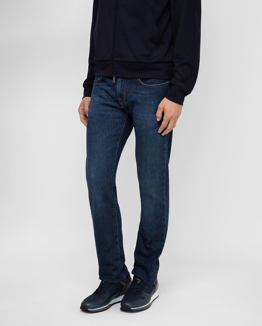 Tramarossa Темно-синие джинсы изображение 3