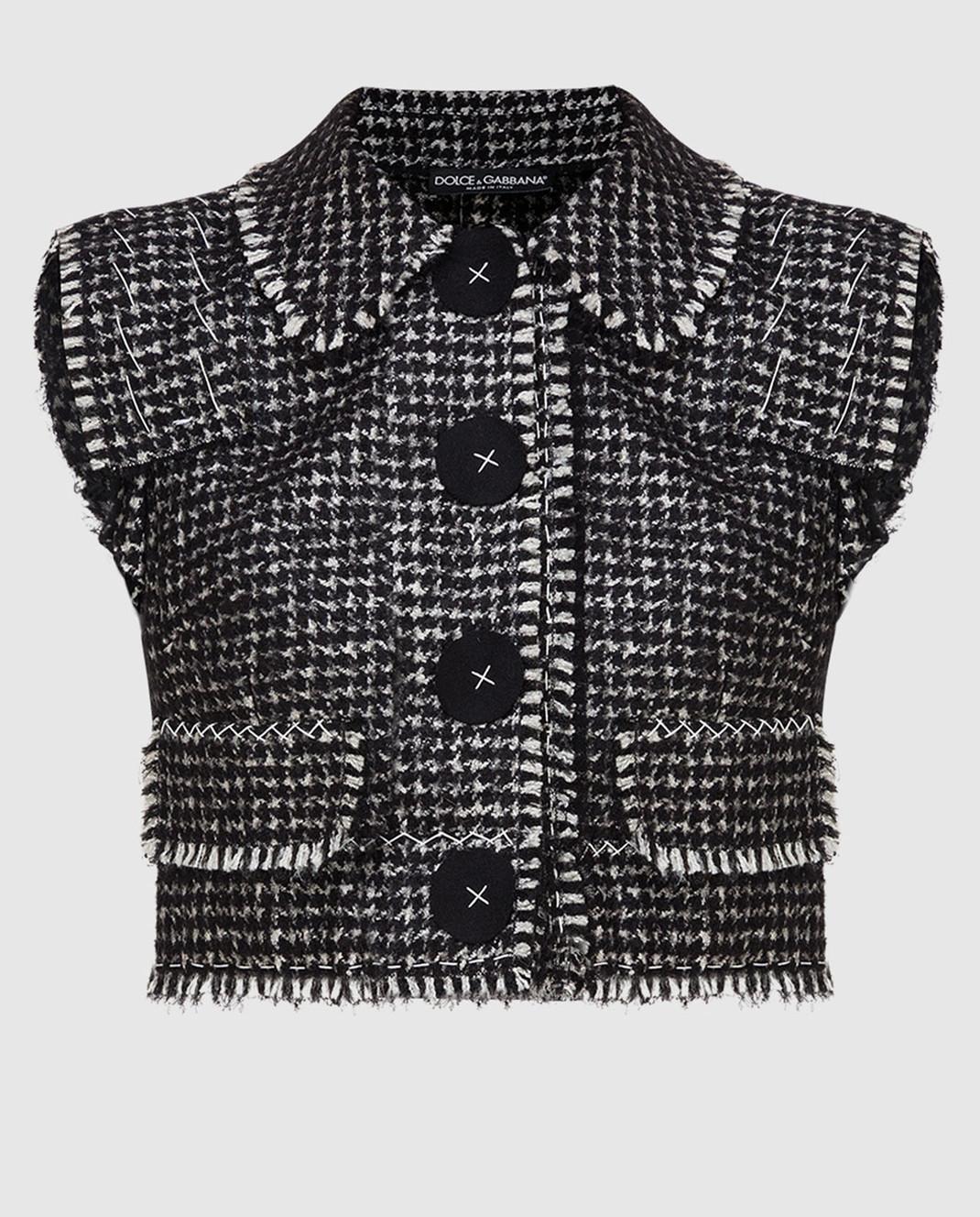 Dolce&Gabbana Черный жилет F28P9TFMMEZ