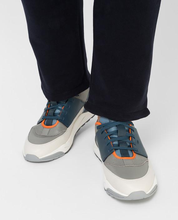 Кожаные кроссовки hover