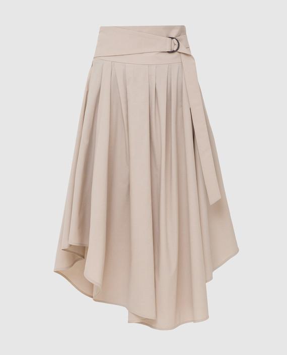 Светло-бежевая юбка