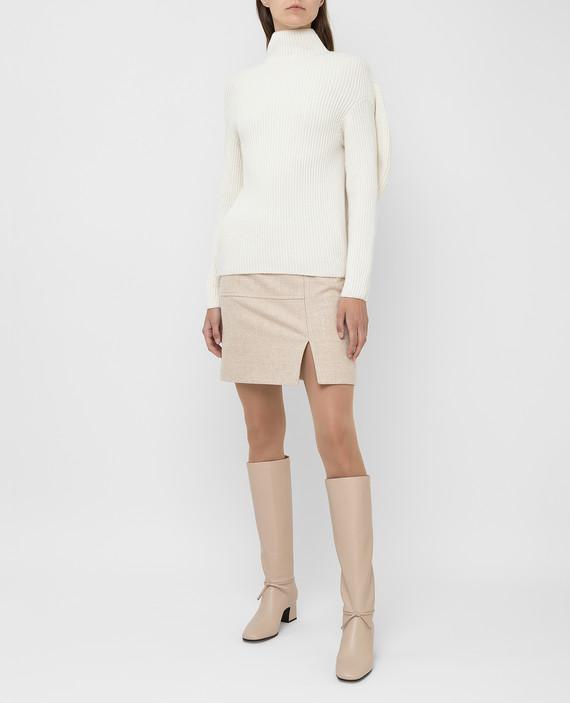 Светло-бежевый свитер из шерсти и кашемира hover