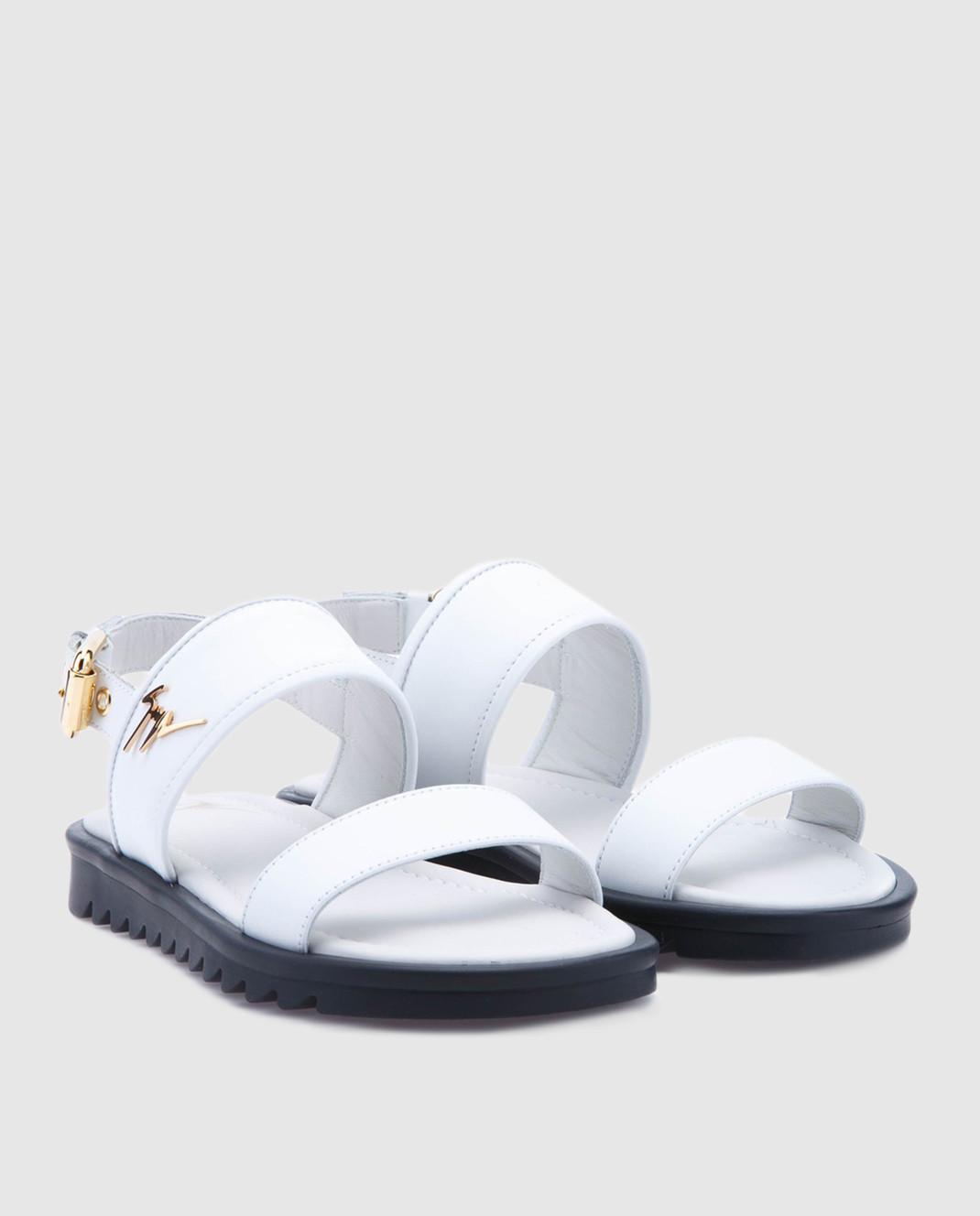 Giuseppe Zanotti Белые кожаные сандалии  SBE8409002 изображение 2
