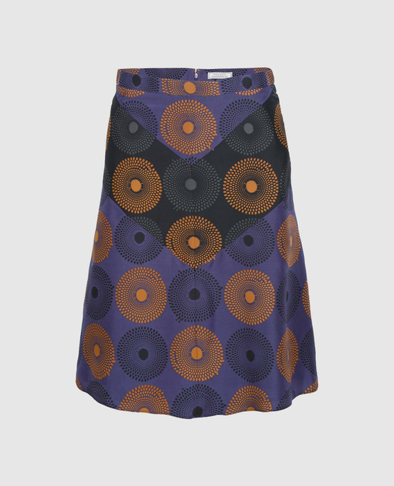 Синяя юбка из шелка