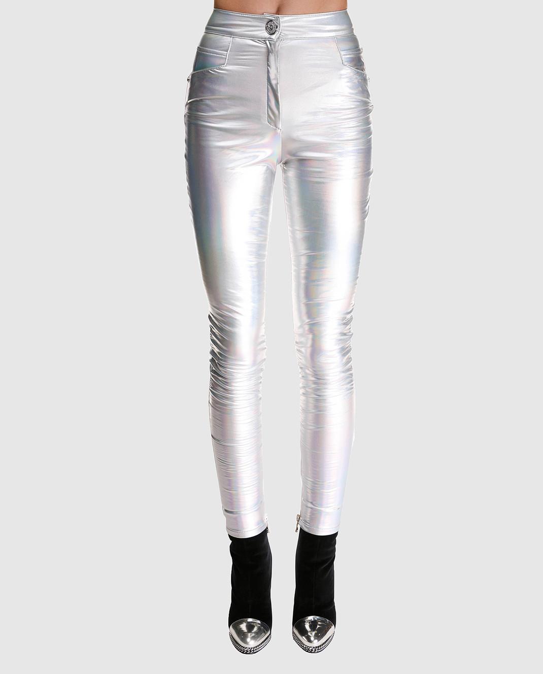 Balmain Серебристые брюки изображение 3