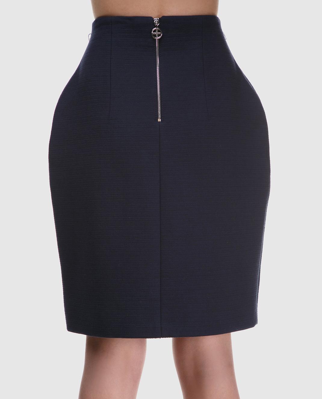 NINA RICCI Темно-синяя юбка 18PCJU002C00864 изображение 4