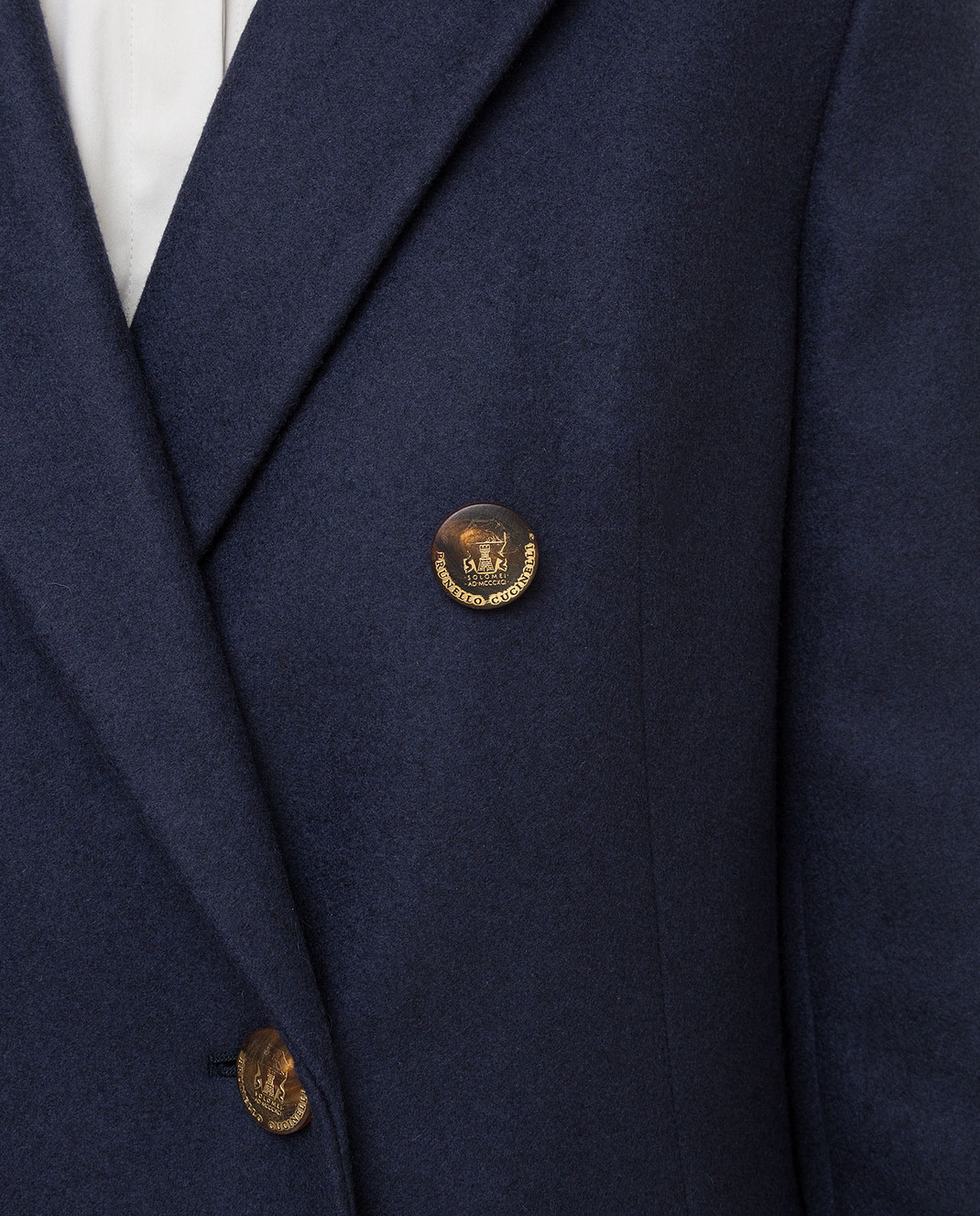 Brunello Cucinelli Темно-синее пальто из кашемира MA5324963 изображение 5