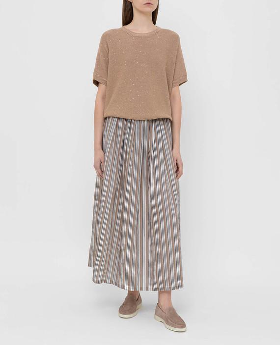 Светло-коричневая юбка hover