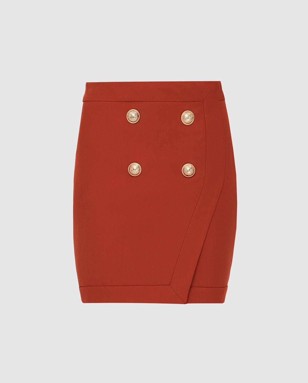 Balmain Терракотовая юбка TF14046V093