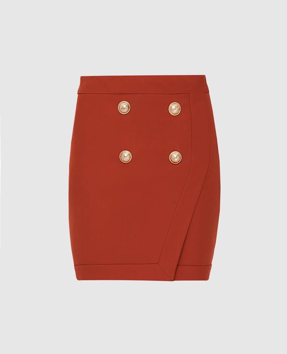 Терракотовая юбка