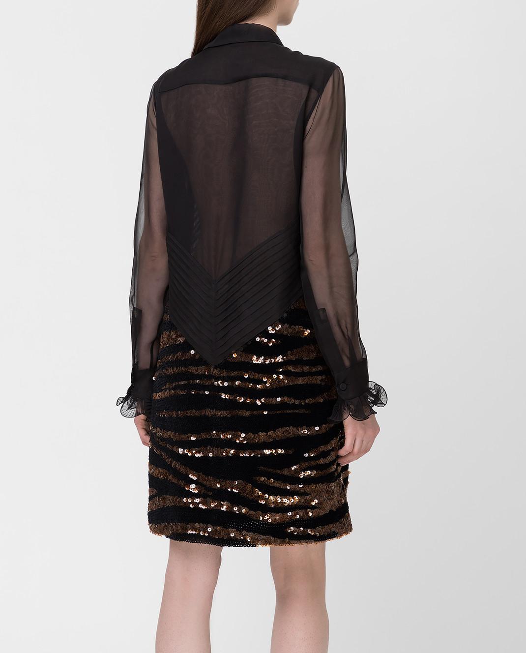 Bottega Veneta Черное платье из шелка изображение 4