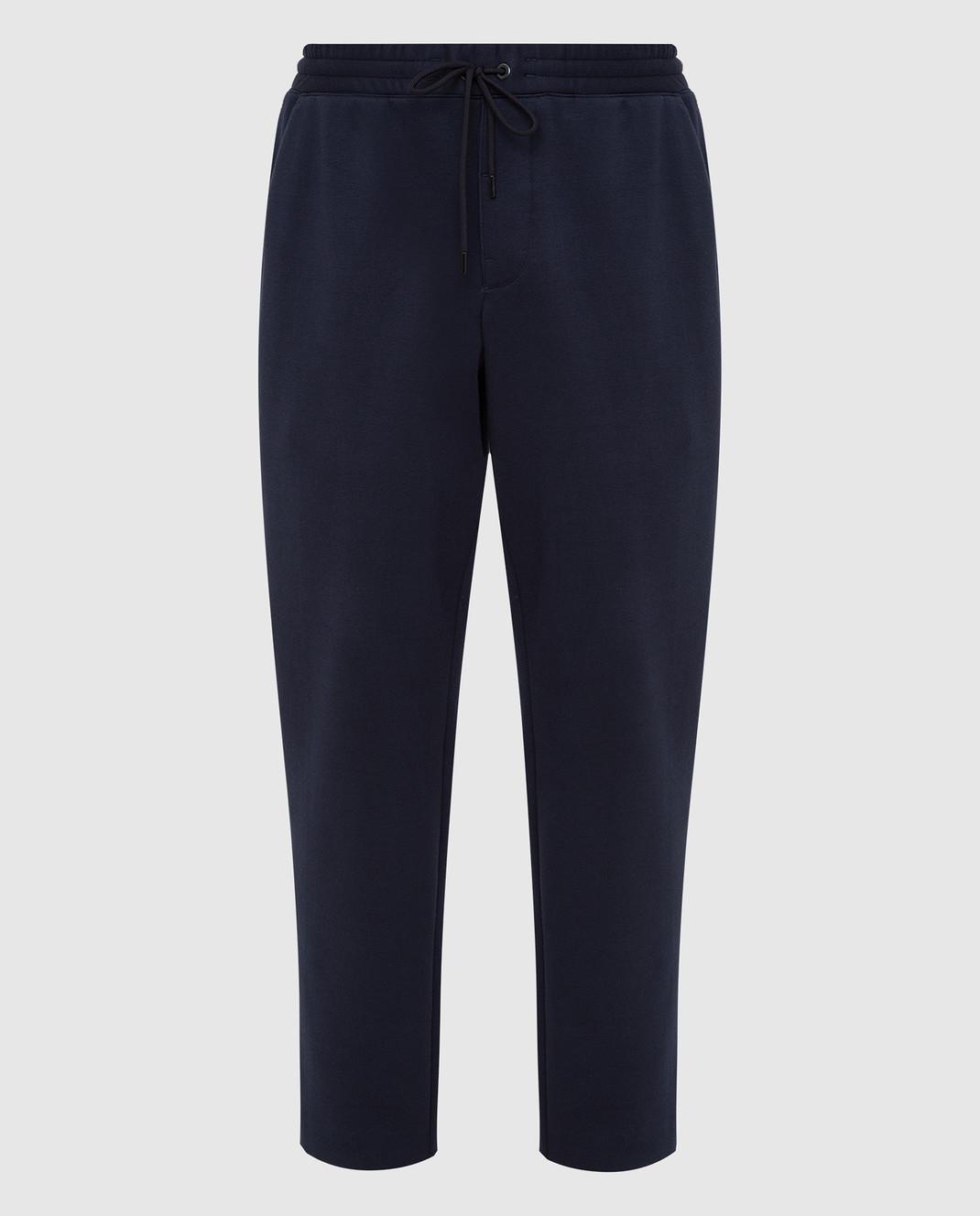 Moncler Темно-синие спортивные брюки 1146600829FC