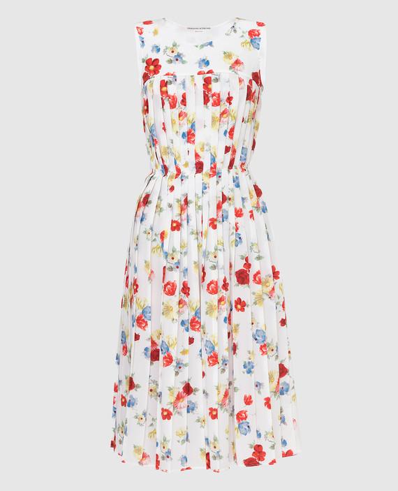 Белое платье из шелка