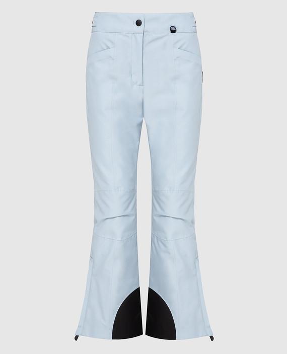 Голубые лыжные брюки
