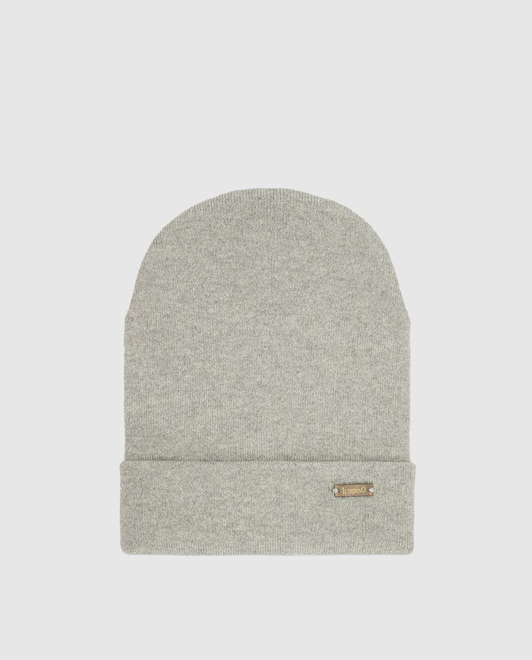 Il Trenino Детская серая шапка из шерсти и кашемира изображение 1