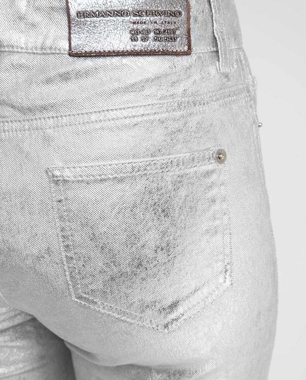 Ermanno Scervino Серебристые джинсы D347P700XFW изображение 5