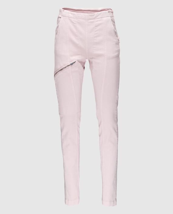 Пудровые джинсы
