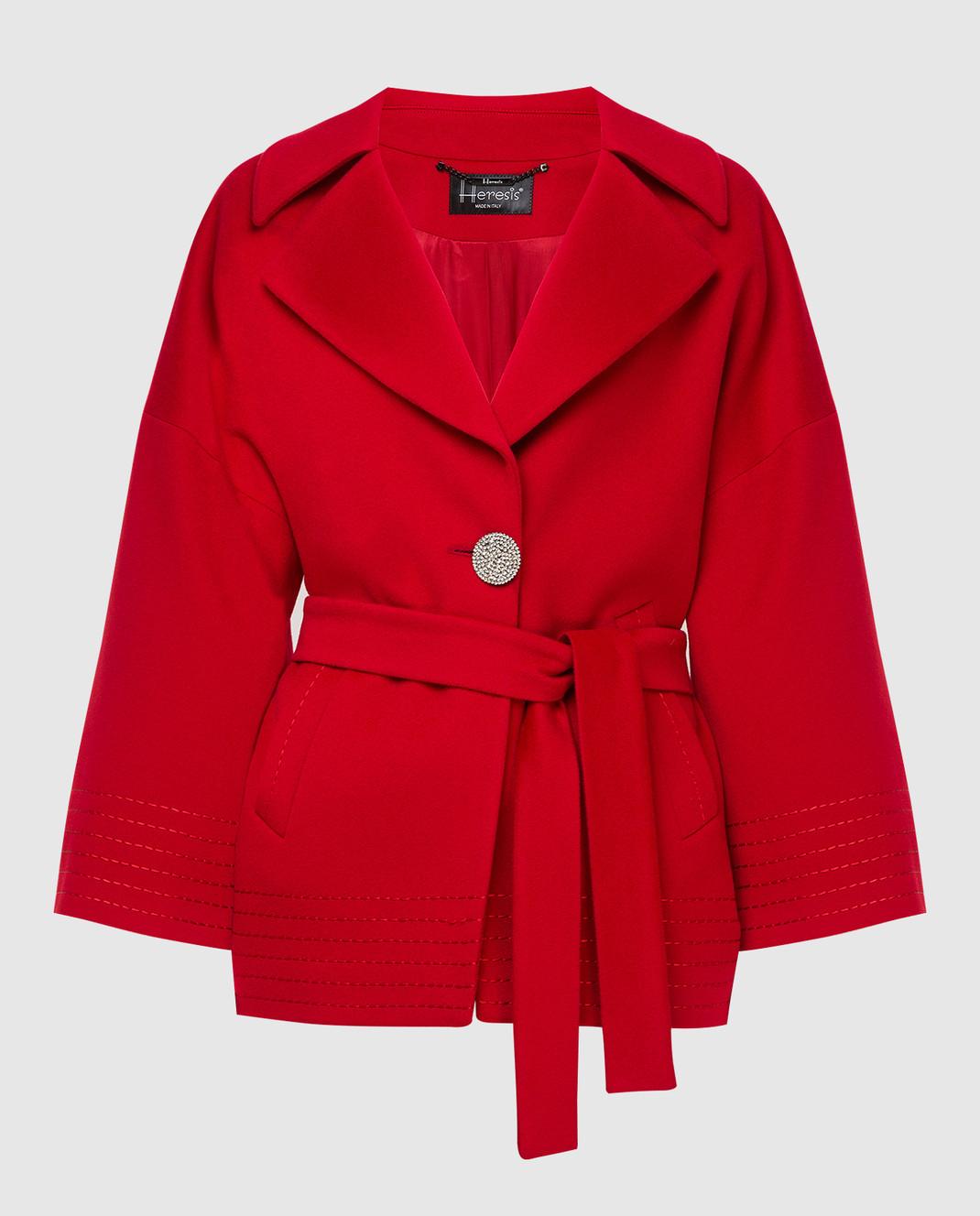 Heresis Красное пальто из шерсти K5270
