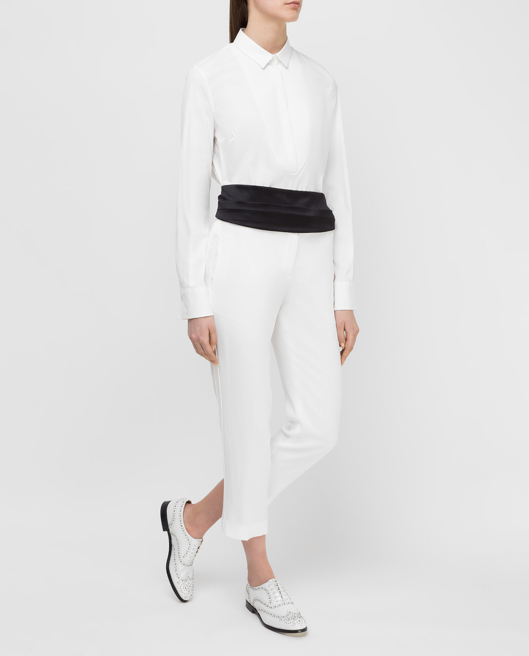 Brunello Cucinelli Белая рубашка M0091M6215 изображение 2