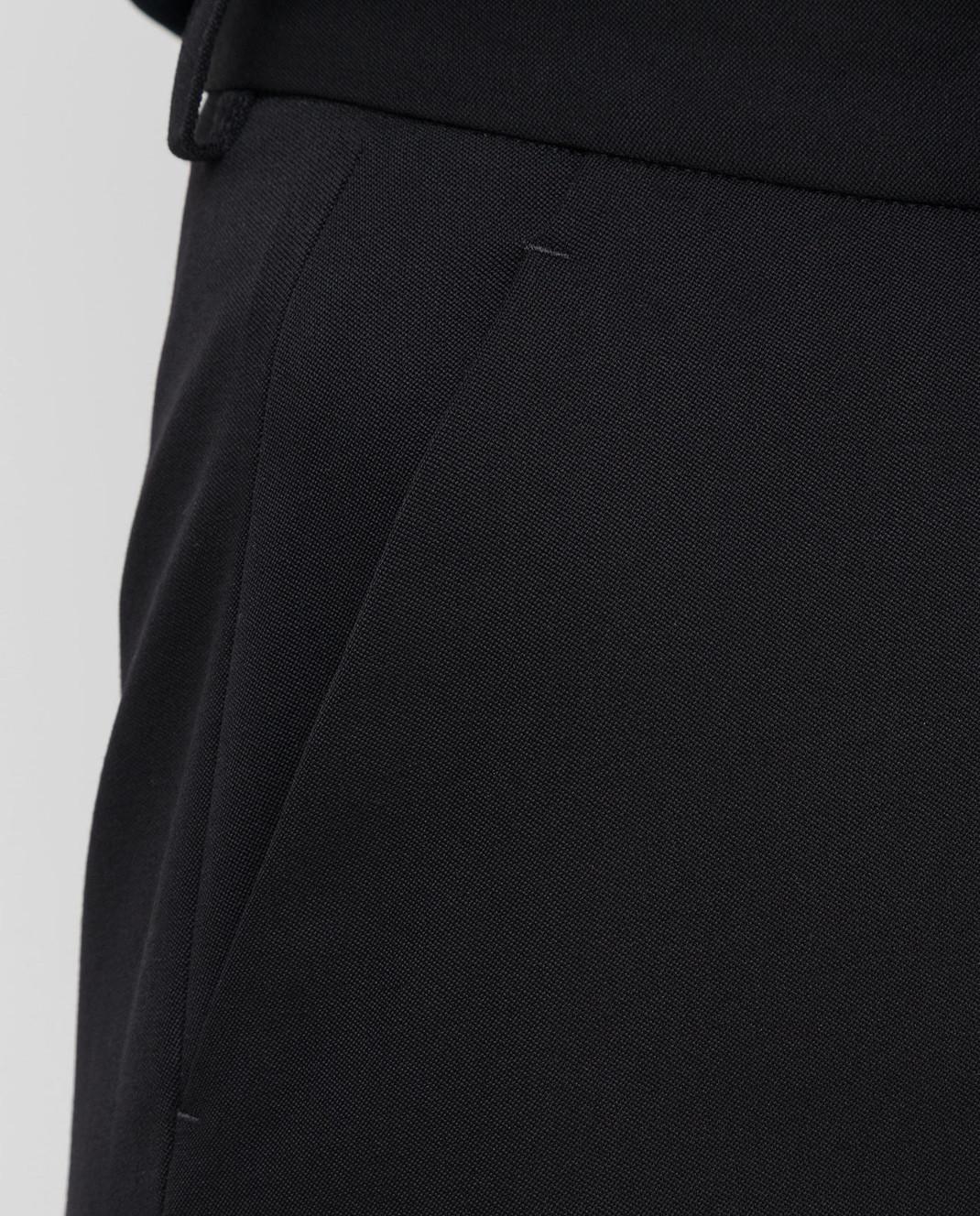 Roberto Cavalli Черные брюки из шерсти DWT211 изображение 5