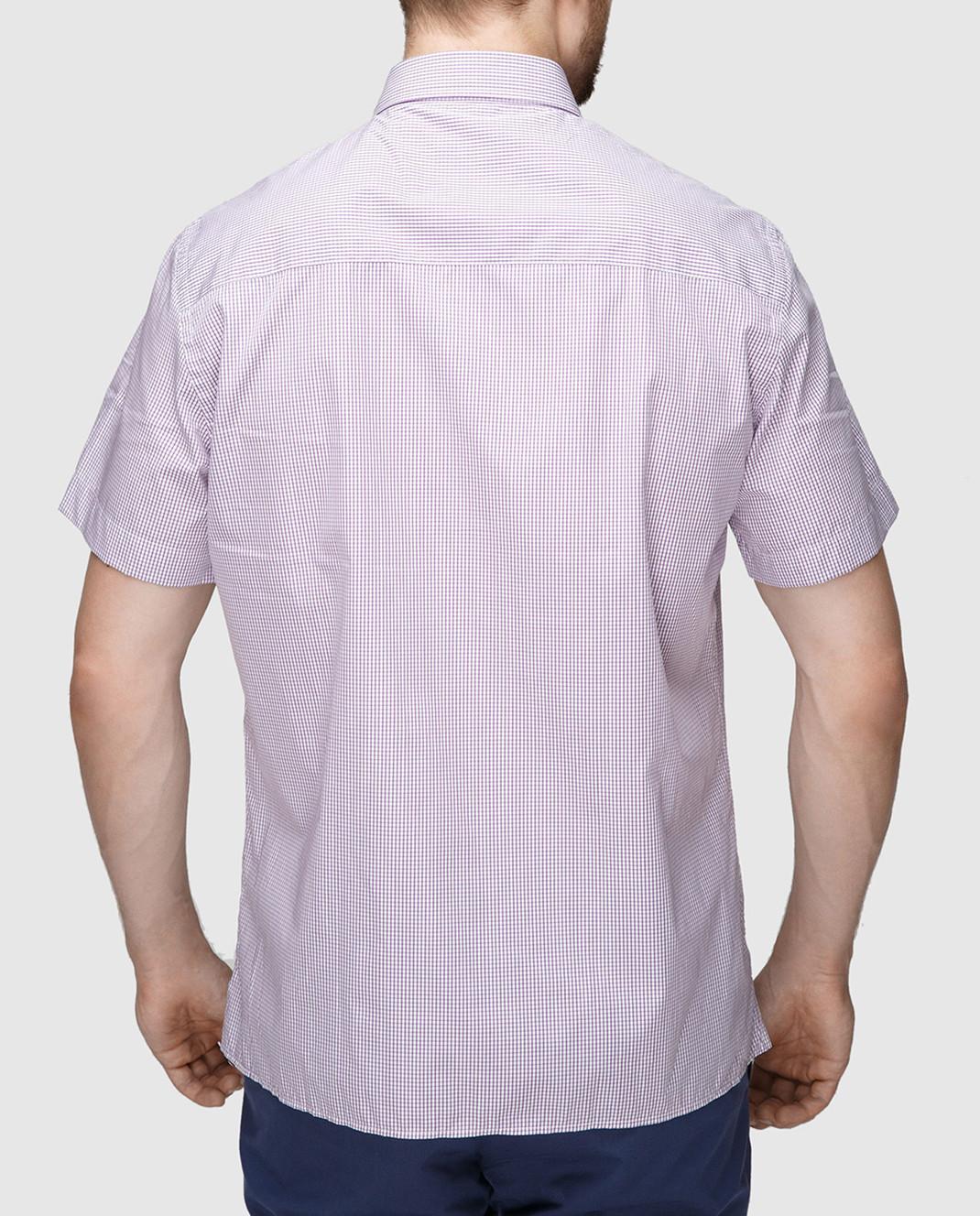 Luciano Barbera Сиреневая рубашка R10559071230 изображение 4