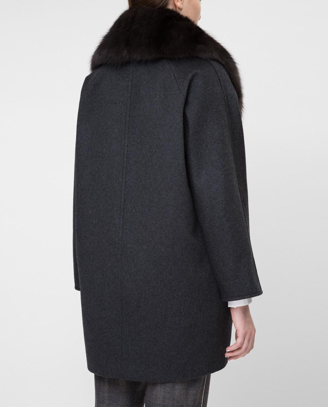 Real Furs House Черное пальто QSR433 изображение 4