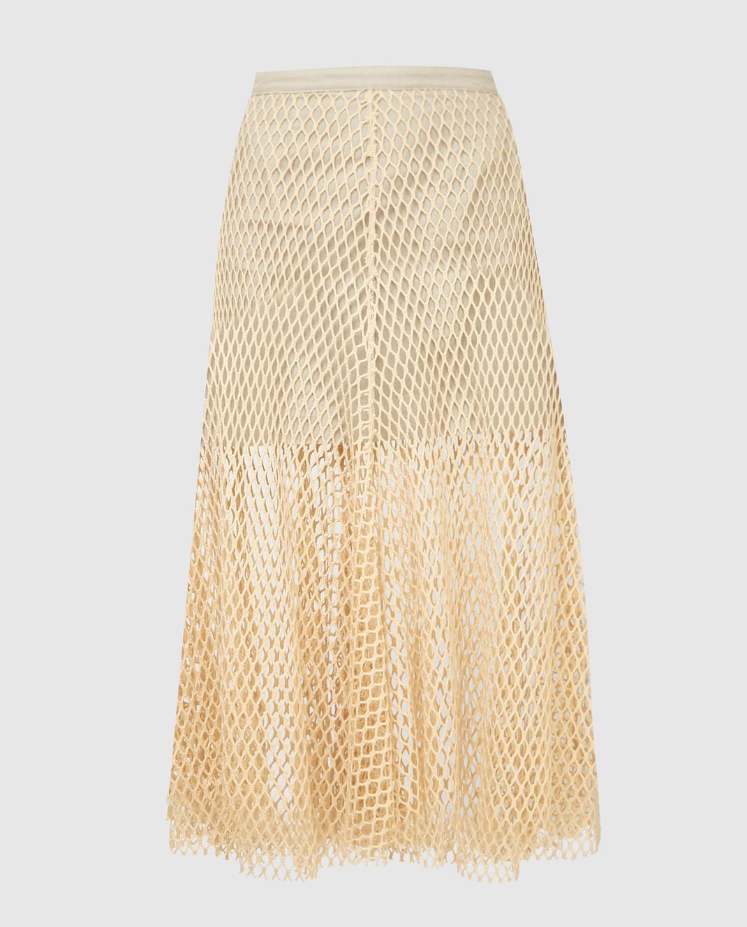 Mr&Mrs Italy Бежевая юбка WLS007