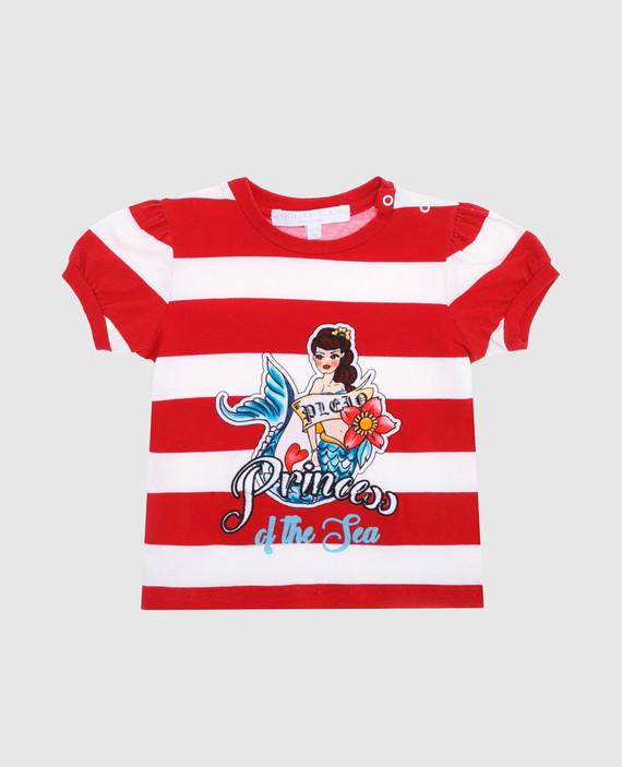 Детская красная футболка