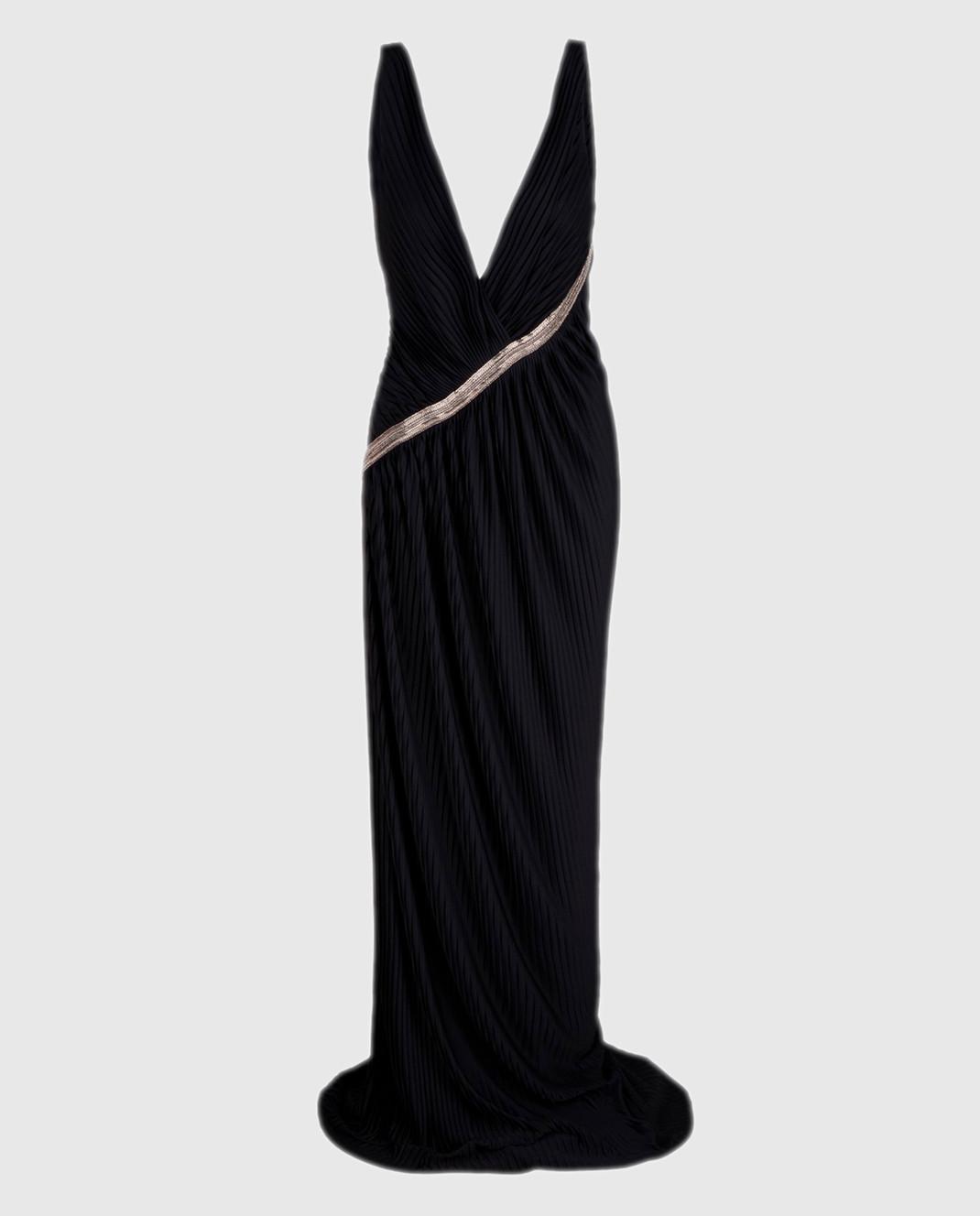 Roberto Cavalli Черное платье изображение 1