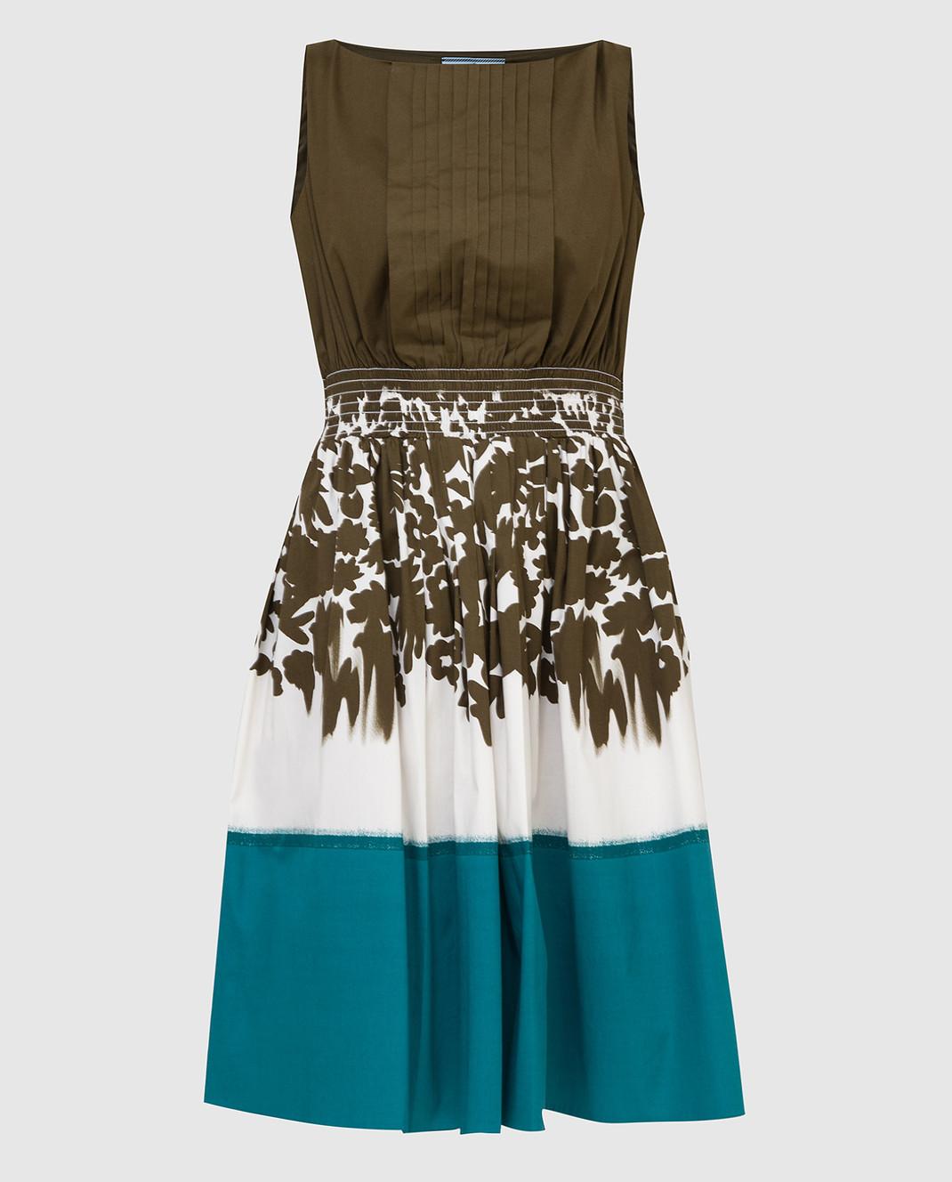 Prada Зеленое платье P32U7R