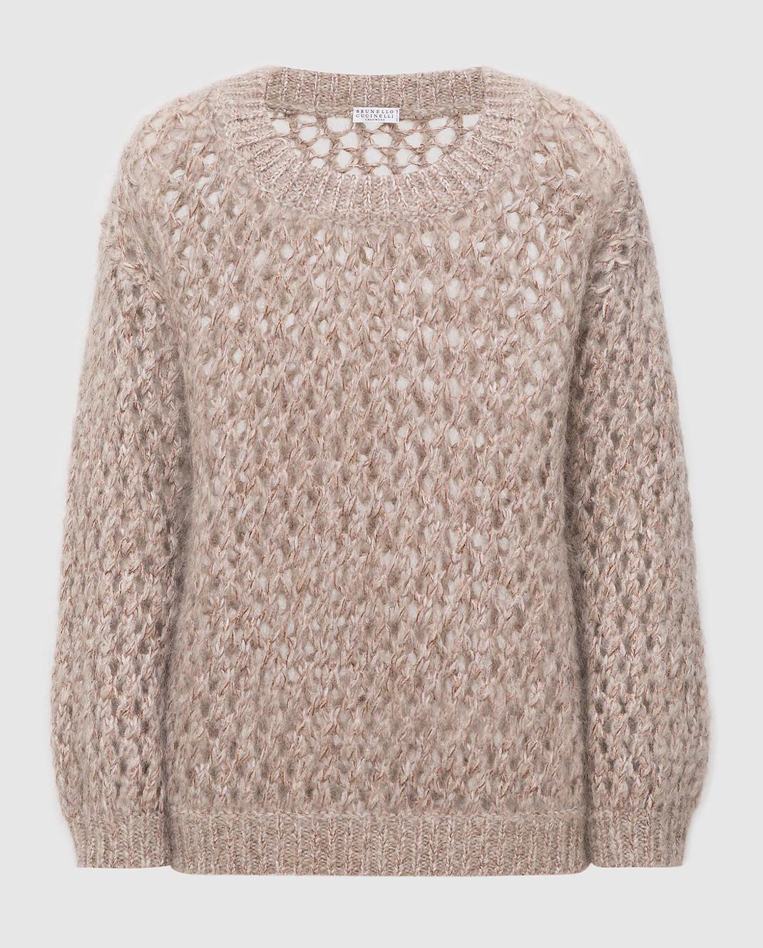 Brunello Cucinelli Бежевый свитер M9F386208